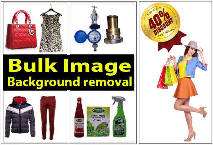 You will get 40% Discount for bulk product image editing