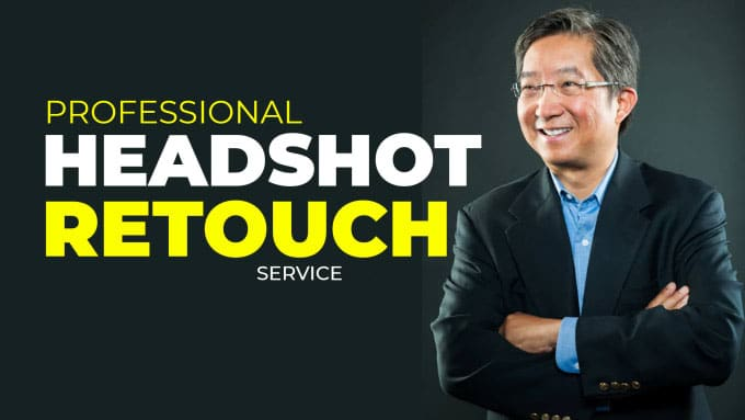 You will get 5 headshot image editing